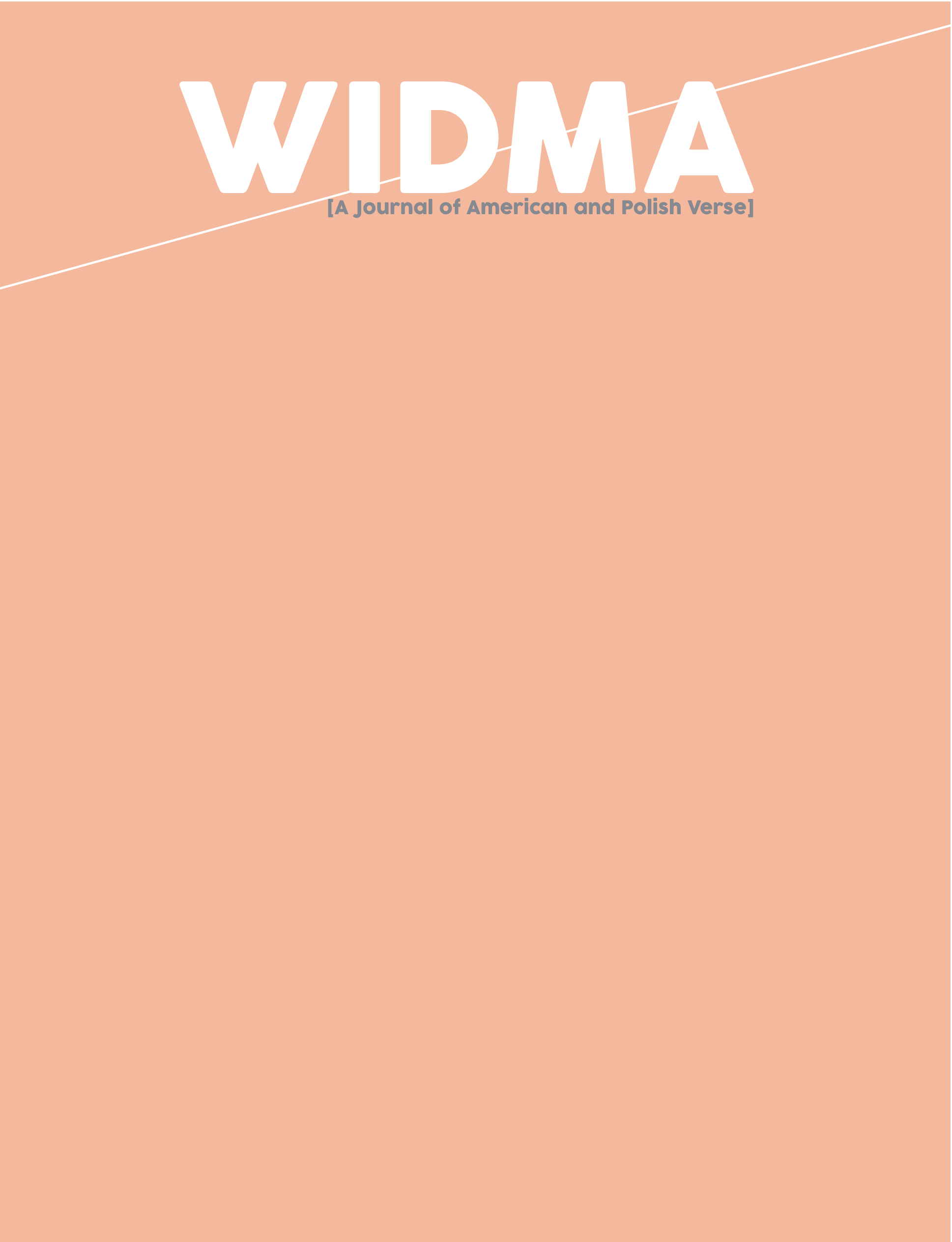Widma vol.2, no.1. Page 1.